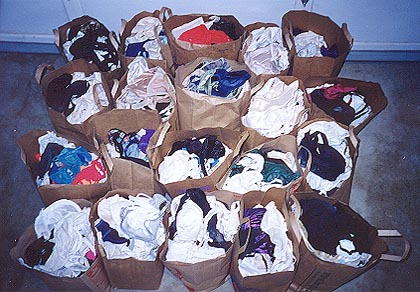 One week's worth of bra donations